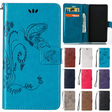Cute Cartoon Flower Butterfly Leather Wallet Flip Fundas Phone Cases For Huawei Ascend Y3 ii Y3ii Y3 2 / Y5 ii Y5 ii Y5 2 Cover
