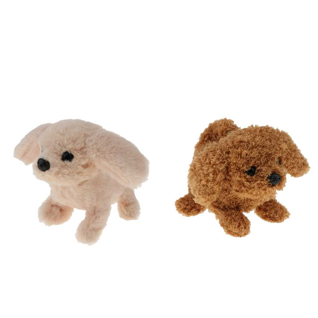 2Pcs 슈퍼 지능형 전기 동물 장난감 강아지 박제 동물 강아지 장난감 전자 플러시 장난감 어린이 선물 세트