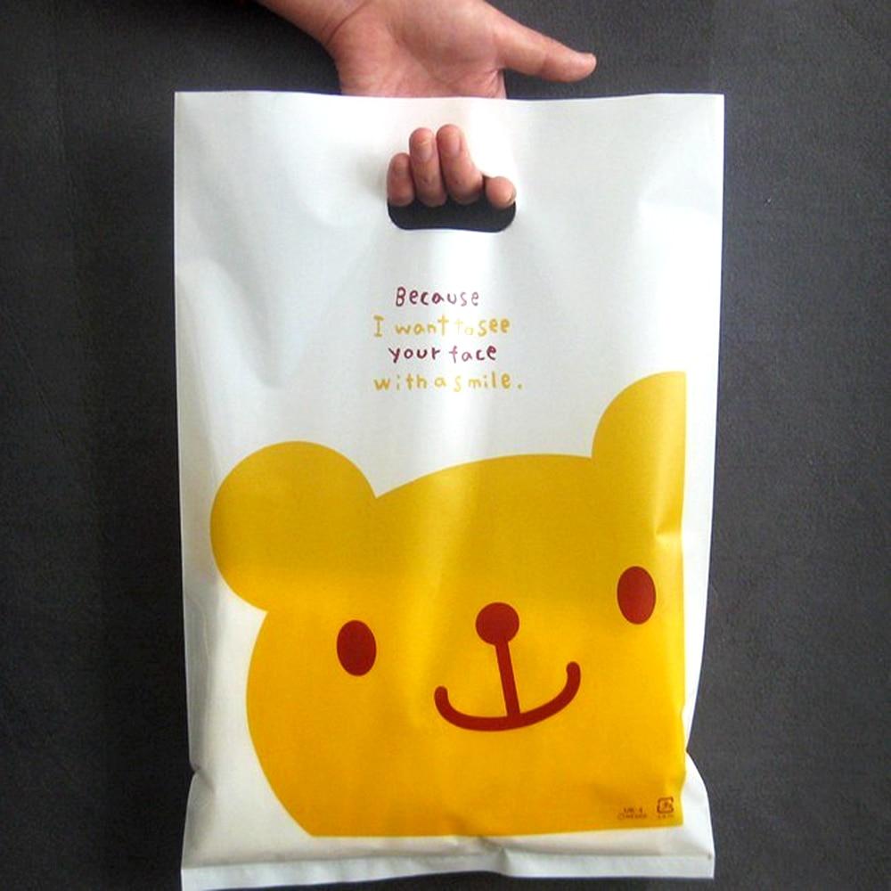 500 teile/los Individuelles logo Hohe qualität kunststoff einkaufstaschen, kunststoff schmuck beutel Verpackung Geschenk Träger Taschen, 15 farben zu wählen-in Einkaufstaschen aus Gepäck & Taschen bei  Gruppe 1