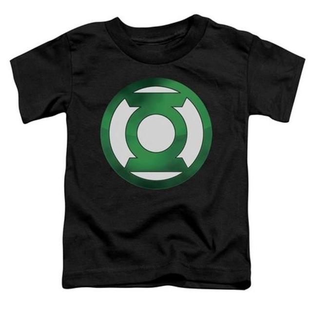 Trevco Green Lantern-Green Chrome Logo Short Sleeve Toddler Tee Black – Small 2T