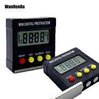 360 grado, Mini Digital prolongador inclinómetro nivel electrónico caja Base magnética herramientas de carpintero goniómetro