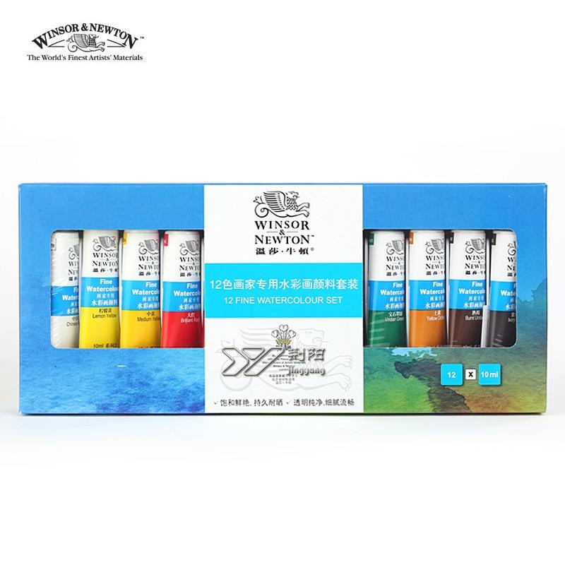 Купить с кэшбэком Freeshipping winsor newton watercolor paints24 color 18 color 12 color Windsor Newton watercolor paints 10ml