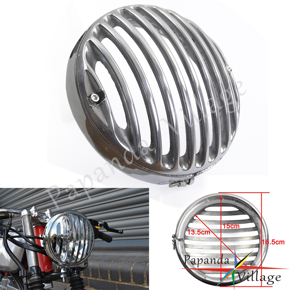 Papanda Motorcycle Chrome 5.75 Headlight Grill Cover Protector for Harley Sportster XL833 XL1200 2004-2014 Touring Trike 09-UPPapanda Motorcycle Chrome 5.75 Headlight Grill Cover Protector for Harley Sportster XL833 XL1200 2004-2014 Touring Trike 09-UP