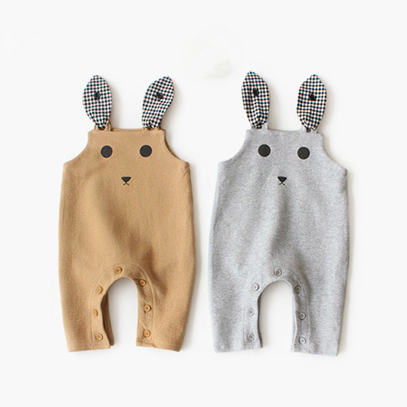 Cotton Autumn Baby Boys Pants With Suspenders Girls Newborn Pants Baby Trousers Lion Toddler Infant Boy Pants Winter