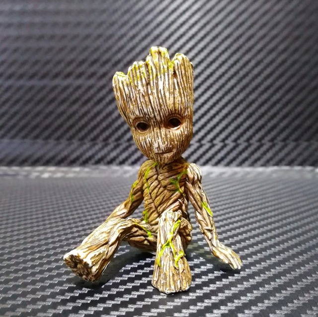 6cm Guardians Of The Galaxy 2 Tree Man Baby Action Figure Grootted Doll Grunt Model Toy Statue Ornaments Groot Toy For Kids