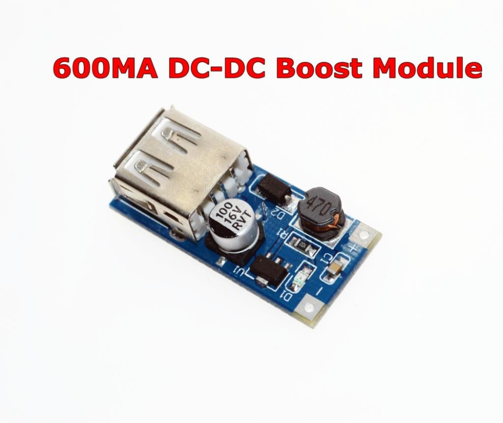 Free Shipping DC-DC USB Output charger step up Power Boost Module 0.9V ~ 5V to 5V 600MA USB Mobile Power Boost Board image