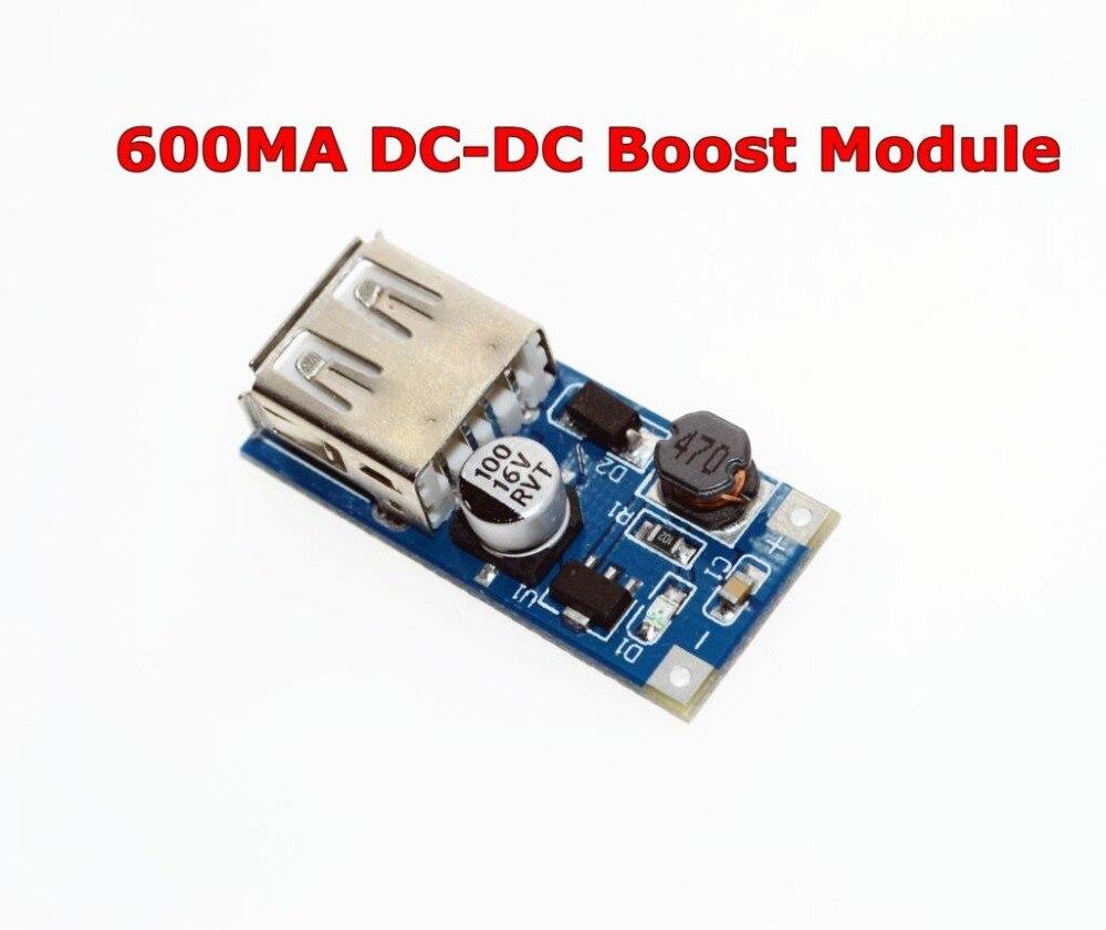 Freies Verschiffen DC-DC USB Ausgang ladegerät step up Power-Boost-Modul 0,9 V ~ 5V bis 5V 600MA USB Mobile Power-Boost-Board