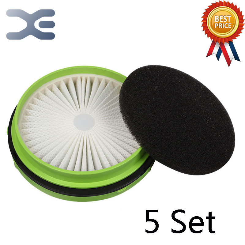 5Set For Puppy Vacuum Cleaner Accessories D-520 Filter Mesh HEPA Filter Replacement Cotton 1 piece hepa filter accessories replacement parts filters for puppy vacuum cleaner d 520 d520