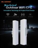 2 pcs Receptor COMFAST 2.4 Ghz Router Wi-fi Ao Ar Livre 14dBi ponte Wi fi amplificador de sinal de Antena nanostation CPE Router IP câmera