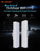 2pcs COMFAST 2 4Ghz Outdoor Wifi Router Receiver 14dBi Wi Fi Bridge Antenna Signal Amplifier CPE