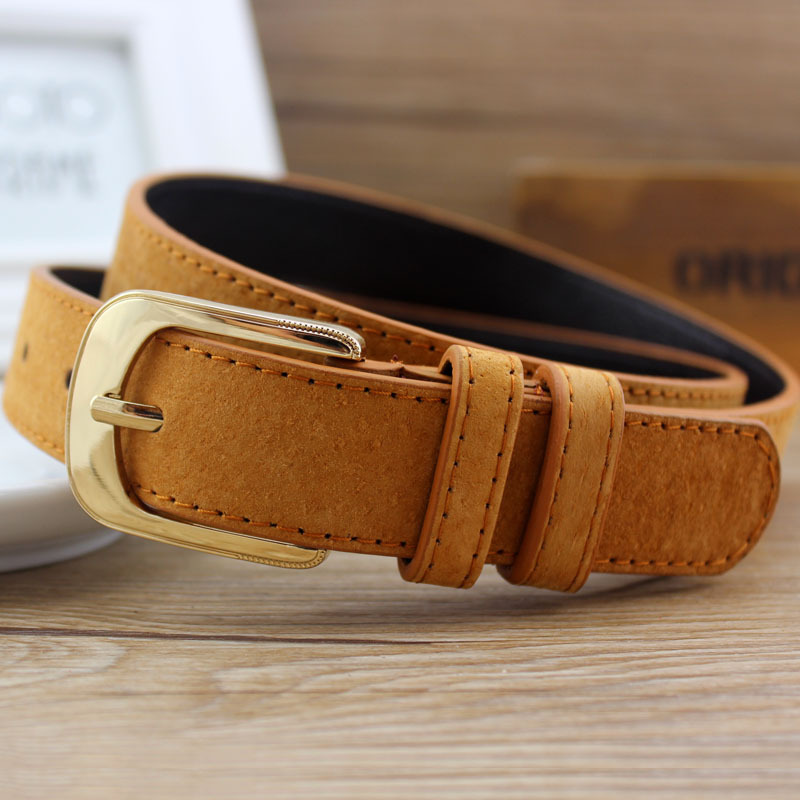 Helisopus 2019 Fashion Women Pigskin Wide   Belt   All-match Metal Buckle   Belt   Ladies Dress Accessories Women Wide   Belts   Straps