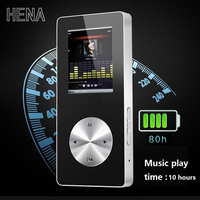 HENA mp4 player bluetooth with loudspeaker all aluminum CNC materail high quality hifi mp4 players 16gb recorder FM TF support
