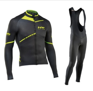 Image 1 - NW 2019 Breathable Cycling Clothes Set Northwave Long Sleeve Summer Jersey men suit outdoor sportful bike MTB clothing paded
