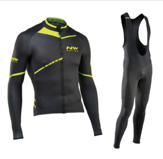 NW 2019 Breathable Cycling Clothes Set Northwave Long Sleeve Summer Jersey men suit outdoor sportful bike MTB clothing paded