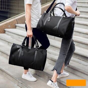 New Casual Waterproof Nylon Men Travel Bags Overnight Duffel Bag Weekend Large Tote Crossbody Wholesale - discount item  55% OFF Travel Bags
