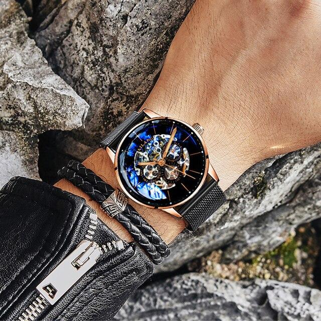 Фото ailang топ дизайн часы минималистский турбийон мужские автоматические