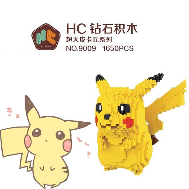 HC Magia ir Pikachu Pokemon Totoro Mini Puntada Micro bloques Bloques Bloques de Construcción de BRICOLAJE Juguetes Juguetes Subasta Figuras Regalos de Los Niños