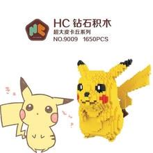 HC Magic Blocks Totoro Mini Blocks Stitch Micro blocks Pokemon go Pikachu DIY Building Toys Juguetes Auction Figures Kids Gifts