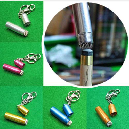 1pcs Prep Billiard Snooker Pool Table Cue Tip Shaper Pick Pricker Scuffer Tapper Tip Metal Repair Tool Keychain Accessories