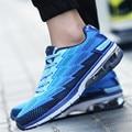 Nuevos Hombres parejas 2016 de Moda Al Aire Libre Para Caminar Casuales zapatos de tela Neta de amortiguación Del amortiguador de Aire tamaño 35-44 chaussure homme mbt zapatos de mujer