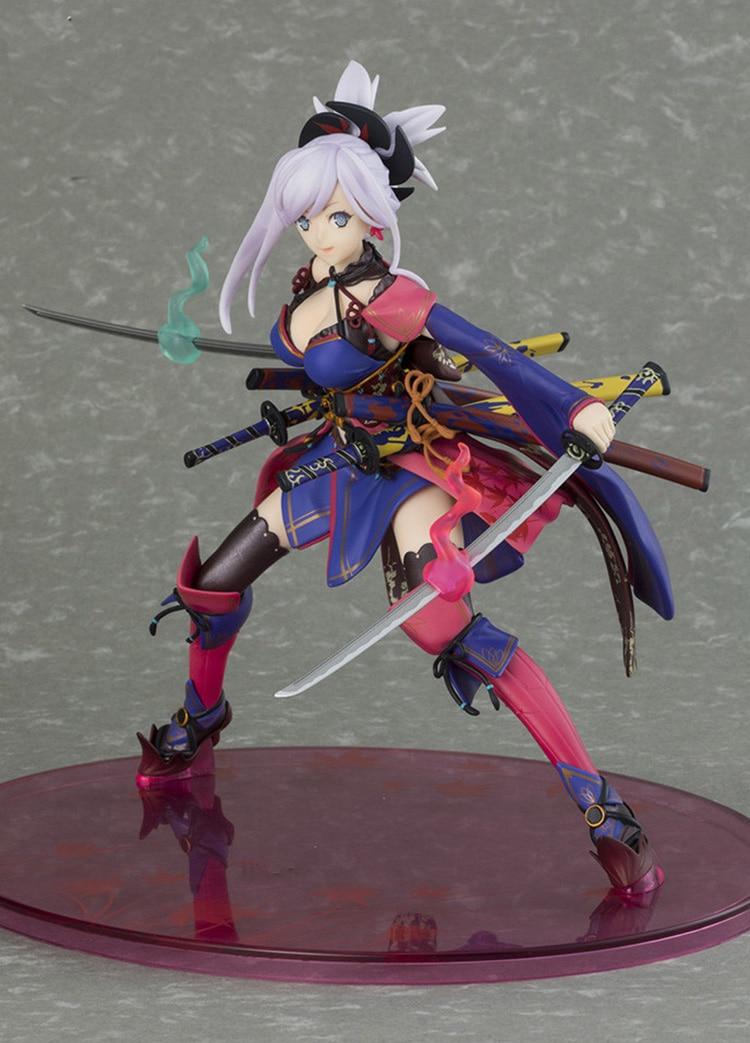 Japanese Original Anime Figure FGO Fate Saber Miyamoto Musashi Action Figure Collectible Model Toys For Boys