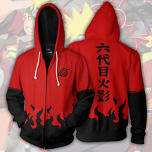 Anime Sasuke Zip Up Hoodie
