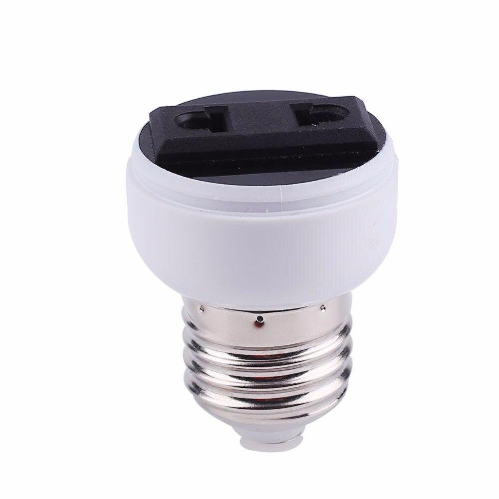 E27 Lamp Holder Converter Socket US/EU Plug Practical Lamp White Converter US/EU Plug Lamp Base