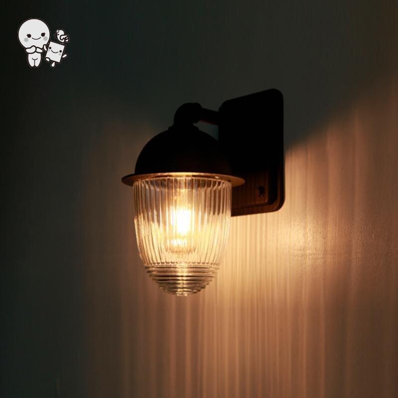 Extérieur étanche Mini noir en aluminium verre abat jour applique luminaire moderne applique luminaire pour balcon jardin E27 ampoule - 2