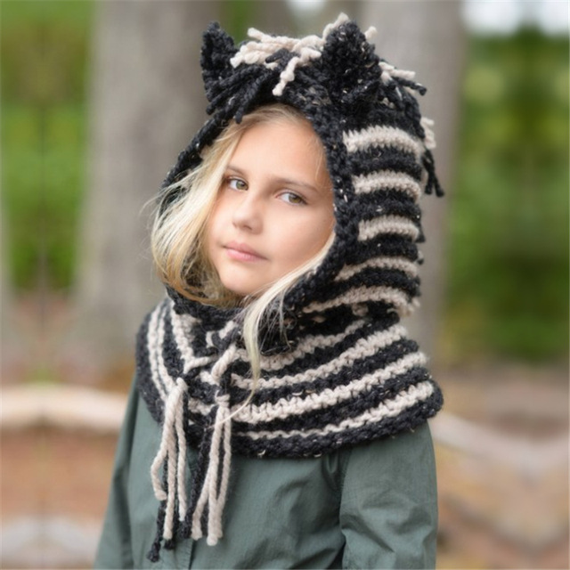 Nouveau mode de bande dessinée licorne enfants grossier de laine chapeau  automne hiver chaud tricot chapeau casual confortable mignon bébé chapeau  mou€ 11, ... c51ca3877dd