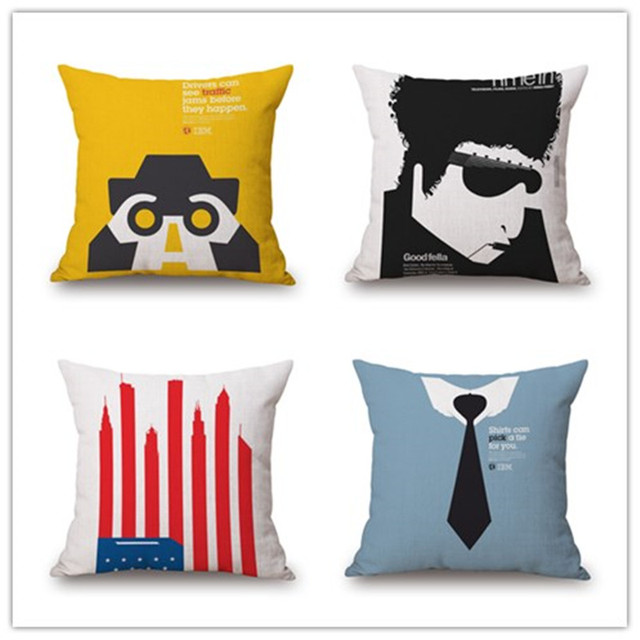 Newest Western City Cartoon Style Home Decor Cushion Pillows Printed Awesome Western Style Decorative Pillows