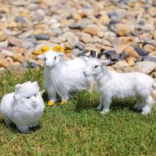 цена на 2019 New Handicrafts Small Goat Ornaments Toys Simulation Goat Baby Sleeping Doll Plush Stuffed Dolls Kids Birthday Gifts Toys