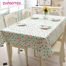 ZYFMPTEX Woven Polyester/Cotton Imitation Linen Small Fresh Flamingo Printing Tablecloth Home Toalha De Mesa Mantele Table Cover