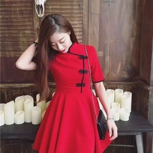 ba7825a7fd5 2019 new design traditional chinese dress satin charming cheongsam Japanese  Harajuku Vintage Gothic Lolita Cheongsam dress