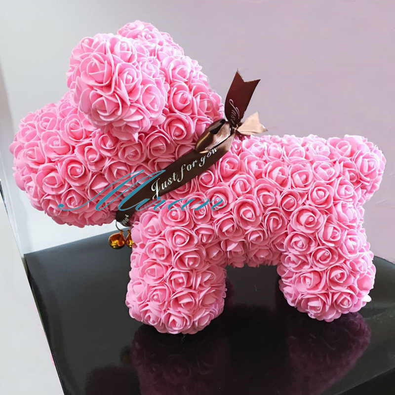 What To Get Fiance For Wedding Gift: 2018 Valentines Gift PE Rose Lucky Dog For Wedding Gift