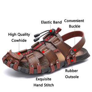 Image 3 - JUNJARM 2020 nouveaux hommes sandales dété tongs pantoufles hommes en plein air plage chaussures décontractées pas cher mâle sandales Sandalia Masculina 47