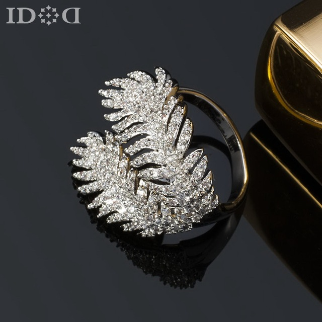 Clic C Brand Feather Fashion Rings Personalized Wedding Accessories Free Adjule Finger For