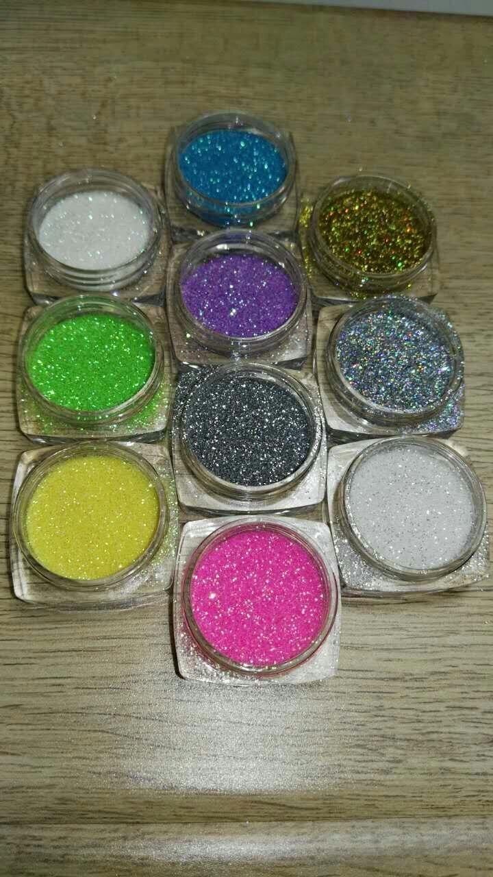 Verantwortlich 5g/glas Maniküre Schönheit 10 Farben Nail Art Acryl Glitter Streifen Uv Pulver Staub Polnisch 10 Gläser/set Kgp0144
