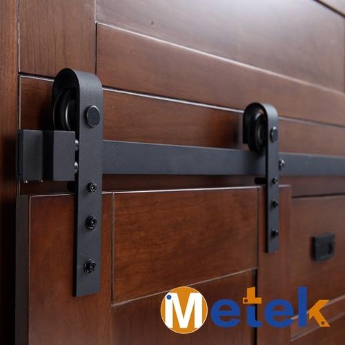3 3FT Carbon steel mini barn sliding door hardware for bathroom cabinet