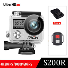 Comfast Ultra HD 4K WIFI Action camera diving 30M waterproof Sports DV kamera with camera bag/remote control PK H9R go pro