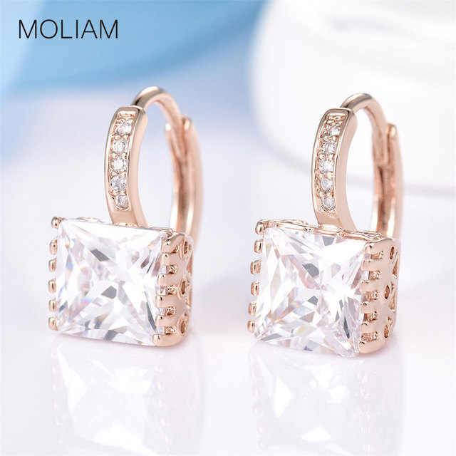 MOLIAM Brand Jewelry Earrings for Womens! New Shiny Rhinestone Hoop Earing Ladies Wedding Jewellery Brinco 2016 MLE302