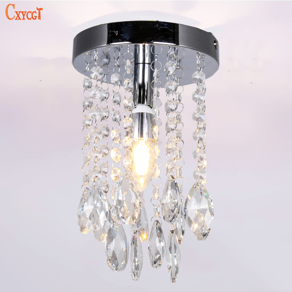 Mini Modern Luxury led Teardrop Crystal Chandelier for Bedroom Corridor  Hallway Wall Ceiling Lamp Chrome Base. Popular Mini Crystal Chandeliers for Bedrooms Buy Cheap Mini