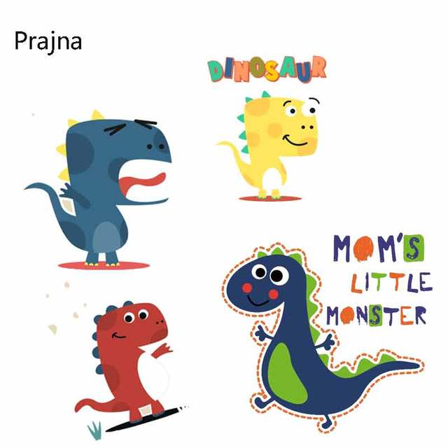 Prajna Bird Patch Lego Dinosaur Clothes Patches Clothes Stickers Heat Iron On Transfers For Clothes Appliques Pyrography Cheap D