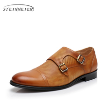 Mens formal shoes leather men dress oxford shoes for men dressing yinzo business office shoes buckle male zapatos de hombre
