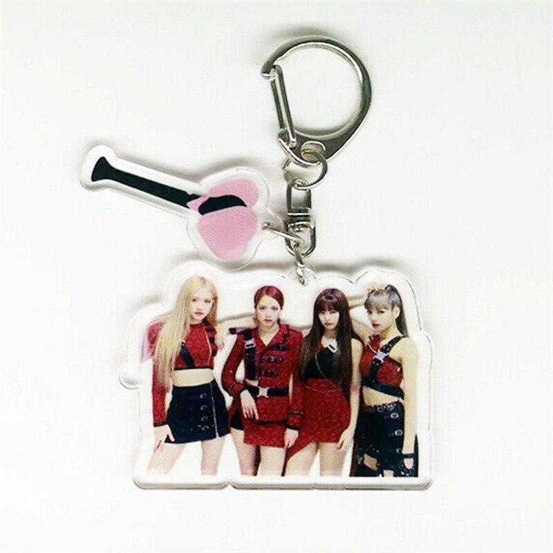 Nouveau porte-clés Kpop Blackpink porte-clés cadeau pour les femmes filles sac pendentif acrylique LISA JENNIE ROSE JISOO Figure bijoux à breloques