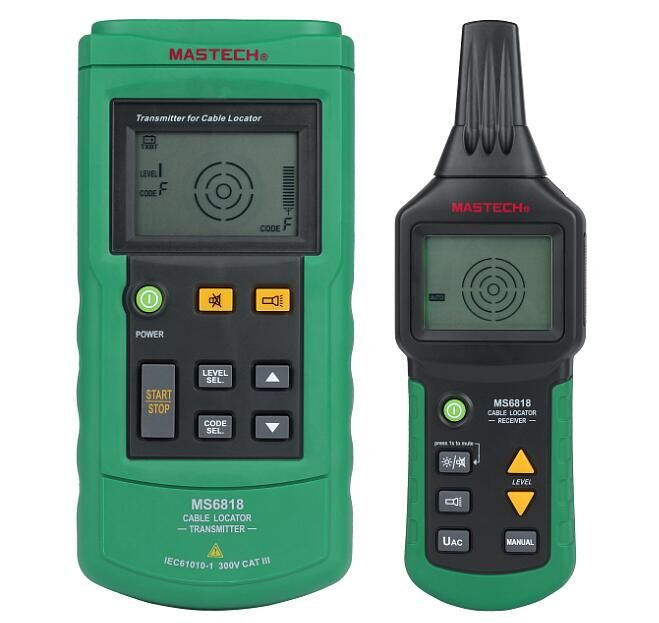Mastech MS6818 Portable Professional Wire Cable Tracker Metal Pipe Locator Detector Tester Line Tracker Voltage12~400V трассоискатель mastech ms6818
