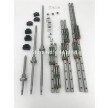 HGR20 Square Linear guide rail 6 set HGR20 - 400/860/1240mm + SFU1605 - 350/800/1120/1120mm ballscrew + BK12 BF12 CNC parts