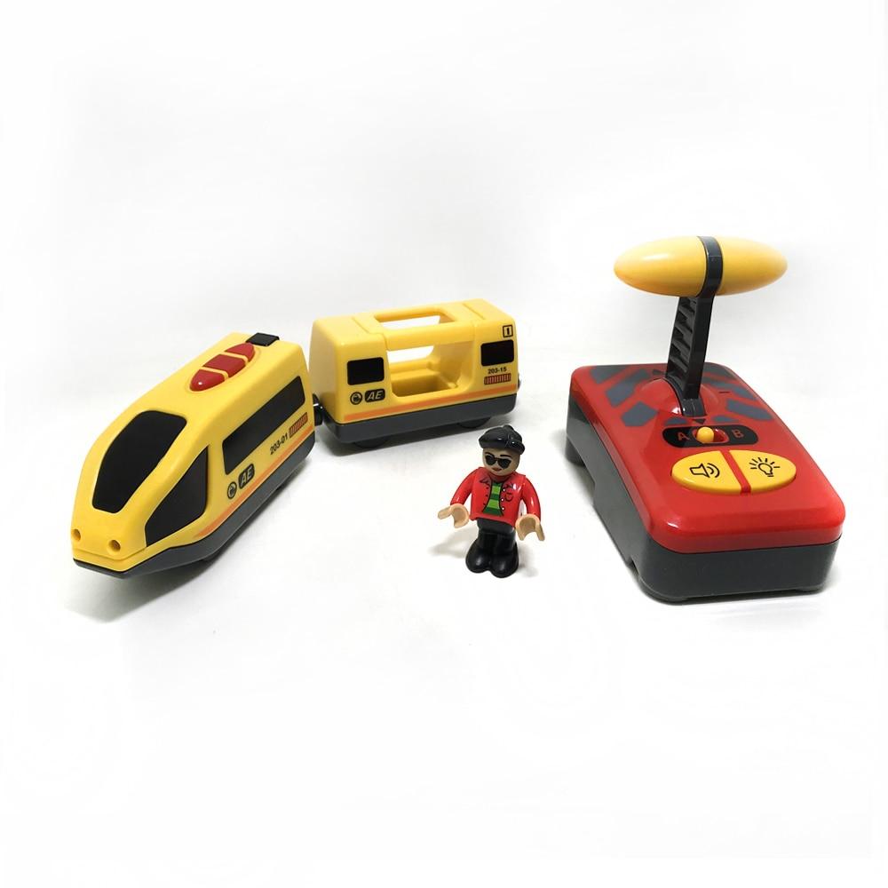 Trem elétrico com controle remoto, brinquedo para