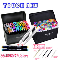 TOUCHNEW 36 48 60 72 168Colors Dual Head Art Markers Alcohol Based Sketch Marker Pen For