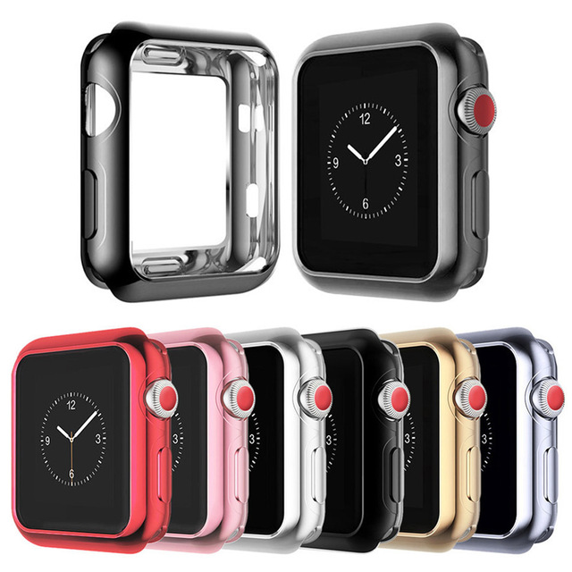 low priced 83560 84f45 US $2.59 |For Apple Watch Series 4 Protect Case Frame Soft TPU Cover for  Apple iWatch Series 3 2 1 Bumper Watch Accessories 38/42/40/44mm-in ...
