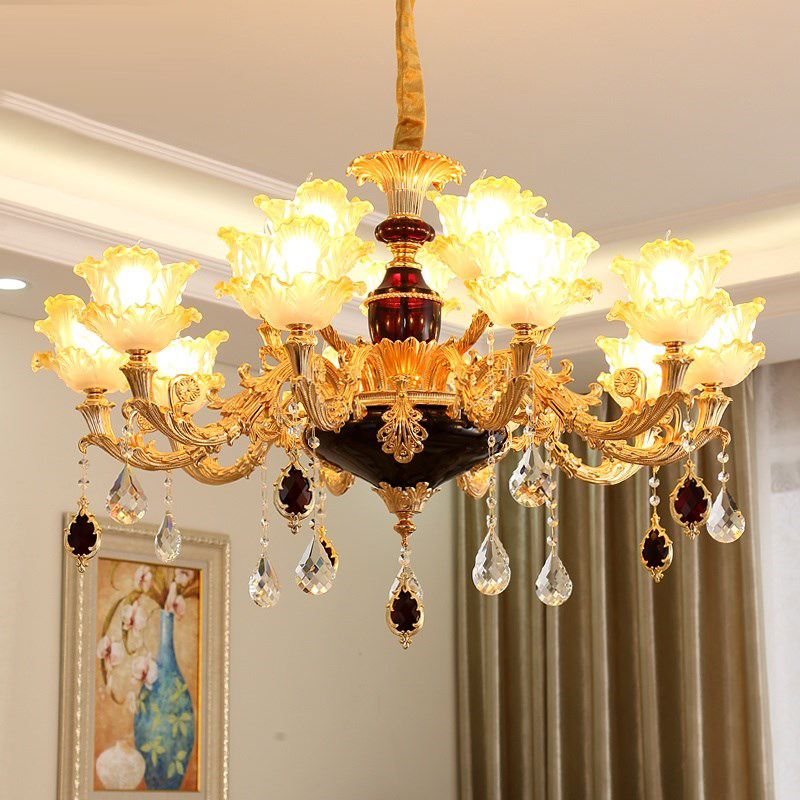Modern Living Room Chandelier Lighting Lobby Chandelier Ceiling Wrought Iron Restaurant Crystal Chandeliers Bedroom Lamp LED multiple chandelier sale chandeliers dining room bedroom lamp villa simple lighting d8 056 iron stores zx20